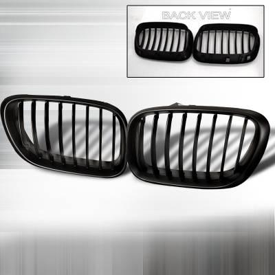 Grilles - Custom Fit Grilles - Spec-D - BMW X5 Spec-D Front Hood - Black - HG-X599BB