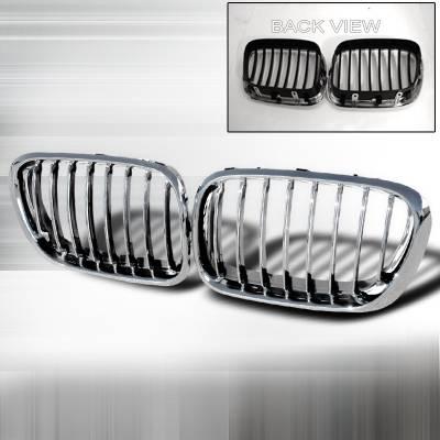 Grilles - Custom Fit Grilles - Spec-D - BMW X5 Spec-D Front Hood - Chrome - HG-X599CC