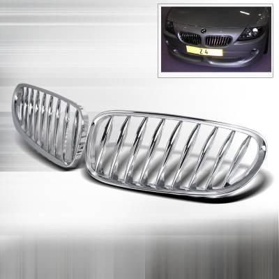 Grilles - Custom Fit Grilles - Spec-D - BMW Z4 Spec-D Front Hood Grille - Chrome - HG-Z401CC