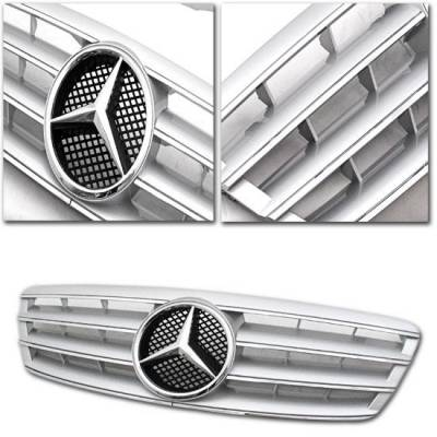 Grilles - Custom Fit Grilles - Sym - CL Style W203 C Class Grille - Silver