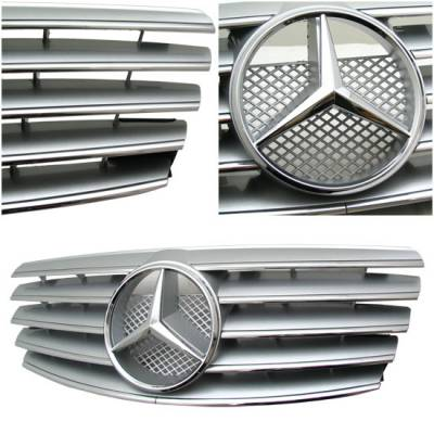 Grilles - Custom Fit Grilles - Sym - W210 00-02 Grille Silver