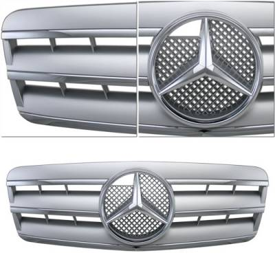 Grilles - Custom Fit Grilles - Sym - Silver Chrome 3 Fin W208