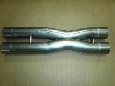 Exhaust - Exhaust Pipes - Stainless Works - Chevrolet Corvette Stainless Works Stainless Steel X-Style Exhaust Crossover Pipe - ZR1X