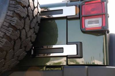 Accessories - Exterior Accessories - T-Rex - Jeep Wrangler T-Rex T1 Series Stainless Rear Spare Tire Carrier Hinge Kit - 2PC - 10485