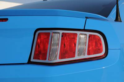 Accessories - Exterior Accessories - T-Rex - Ford Mustang T-Rex T1 Series Taillight Trim - Poished Stainless Steel - 2PC - 12518