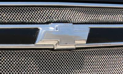 Accessories - Exterior Accessories - T-Rex - Chevrolet Avalanche T-Rex Billet Bowtie with Border - Polished - 19052