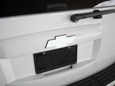Accessories - Exterior Accessories - T-Rex - Chevrolet Suburban T-Rex Billet Bowtie - Rear - Plain - Polished - 19053