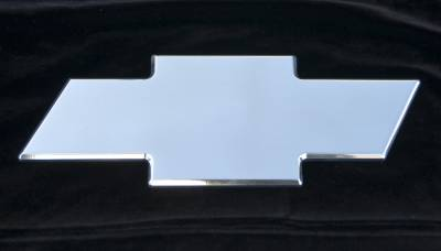 Accessories - Exterior Accessories - T-Rex - Chevrolet Avalanche T-Rex Billet Bowtie - Rear - Plain - Polished - 19054