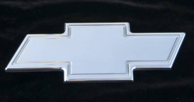 Accessories - Exterior Accessories - T-Rex - Chevrolet Avalanche T-Rex Billet Bowtie - Rear with Border - Polished - 19055