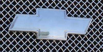 Accessories - Exterior Accessories - T-Rex - Chevrolet Silverado T-Rex Billet Bowtie with Border - Polished - 19076