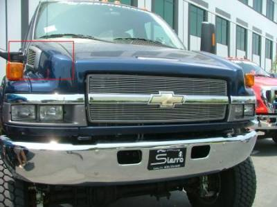 Accessories - Exterior Accessories - T-Rex - Chevrolet Kodiak T-Rex Billet Side Vent Insert - 10 Bars - 20084