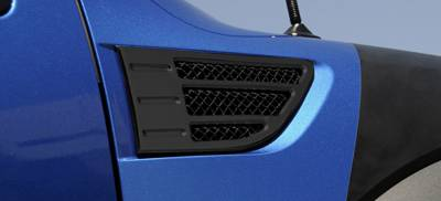 Accessories - Exterior Accessories - T-Rex - Ford F150 T-Rex X-Metal Side Vents - Black - Pair - 51567