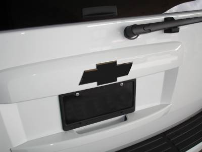 Accessories - Exterior Accessories - T-Rex - Chevrolet Tahoe T-Rex Billet Bowtie - Rear - Plain - Black - 19053B
