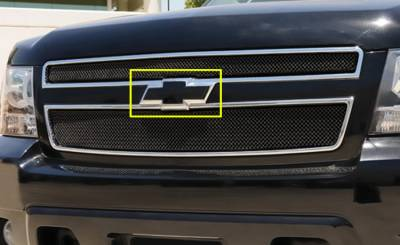 Accessories - Exterior Accessories - T-Rex - Chevrolet Silverado T-Rex Billet Bowtie with Border - Black - 19076B