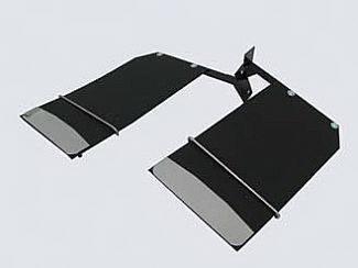 Accessories - Exterior Accessories - Street Scene - Dodge Ram Street Scene Mud Flap Kit Single Rear Wheel - 12 Inch Wide - 950-09745