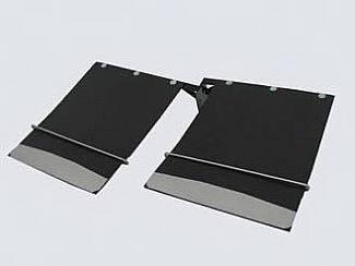 Accessories - Exterior Accessories - Street Scene - Dodge Ram Street Scene Mud Flap Kit Dual Rear Wheel - 18 Inch Wide - 950-09760