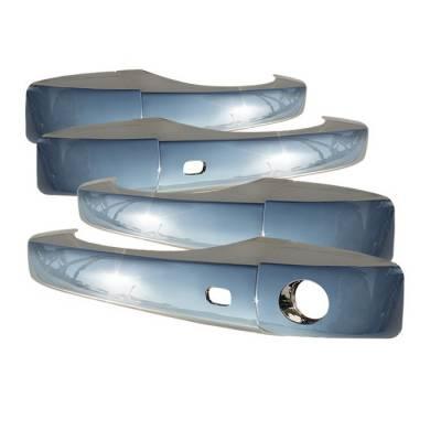 Accessories - Exterior Accessories - Spyder - Dodge Caravan Spyder Door Handle - With Smart Key - No Passenger Side Key Hole - Chrome - CA-DH-C30011SK-NP