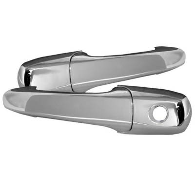 Accessories - Exterior Accessories - Spyder - Ford Fusion Spyder Door Handle - No Passenger Side Key Hole - Chrome - CA-DH-FM05-NP