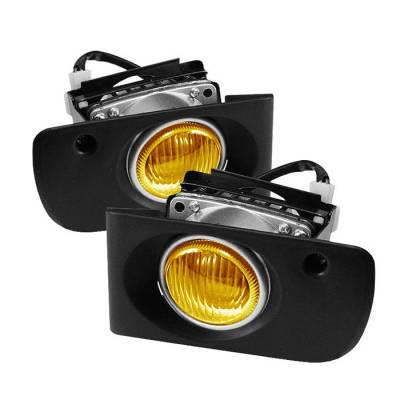 Headlights & Tail Lights - Fog Lights - Spyder - Acura Integra Spyder OEM Fog Lights - Yellow - FL-AI94-Y