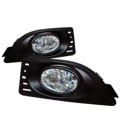Headlights & Tail Lights - Fog Lights - Spyder - Acura RSX Spyder OEM Fog Lights - Clear - FL-AR06-C