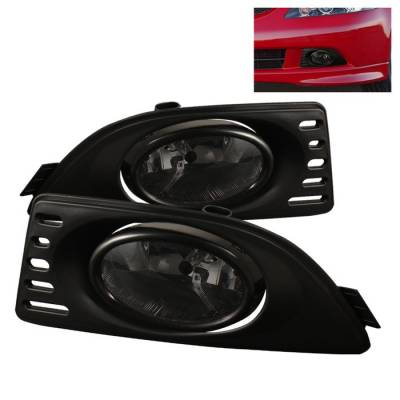 Headlights & Tail Lights - Fog Lights - Spyder - Acura RSX Spyder OEM Fog Lights - Smoke - FL-AR06-SM