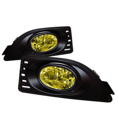 Headlights & Tail Lights - Fog Lights - Spyder - Acura RSX Spyder OEM Fog Lights - Yellow - FL-AR06-Y