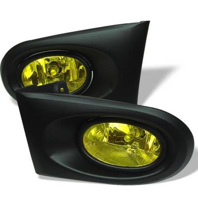 Headlights & Tail Lights - Fog Lights - Spyder - Acura RSX Spyder OEM Fog Lights - Yellow - FL-ARSX02-Y