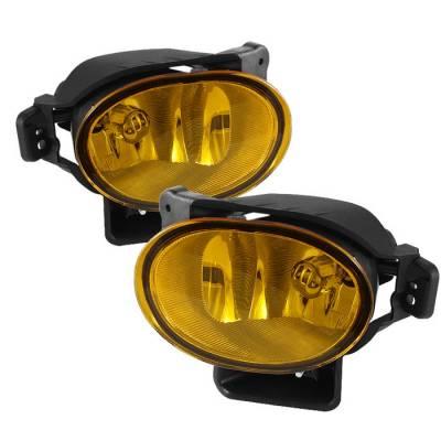 Headlights & Tail Lights - Fog Lights - Spyder - Acura TL Spyder OEM Fog Lights - No Switch - Yellow - FL-ATL08-Y