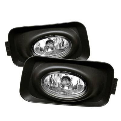 Headlights & Tail Lights - Fog Lights - Spyder - Acura TSX Spyder OEM Fog Lights - Clear - FL-ATSX03
