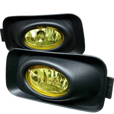 Headlights & Tail Lights - Fog Lights - Spyder - Acura TSX Spyder OEM Fog Lights - Yellow - FL-ATSX03-Y