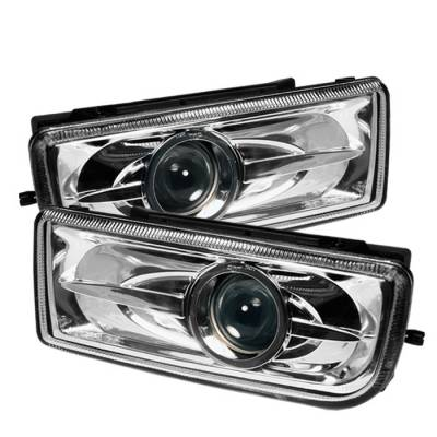Spyder Auto - BMW 3 Series Spyder Projector Fog Lights - Clear - FL-BE3691-P-C