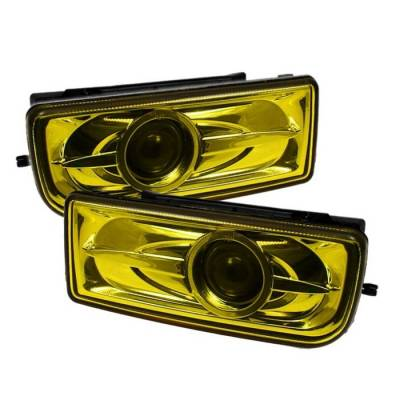 Headlights & Tail Lights - Fog Lights - Spyder Auto - BMW 3 Series Spyder Projector Fog Lights - Yellow - FL-BE3691-P-Y