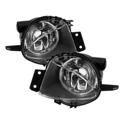 Headlights & Tail Lights - Fog Lights - Spyder - BMW 3 Series Spyder Fog Lights - Black - FL-CH-BE9006-BK