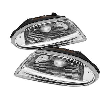Headlights & Tail Lights - Fog Lights - Spyder - Mercedes-Benz ML Spyder Fog Lights - No Switch - Chrome - FL-CH-MBW16398-C