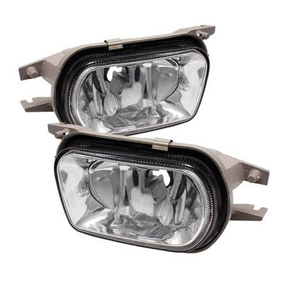Headlights & Tail Lights - Fog Lights - Spyder - Mercedes-Benz C Class Spyder Fog Lights - No Switch - Euro - FL-CH-MBW20301-E