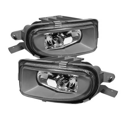 Headlights & Tail Lights - Fog Lights - Spyder - Mercedes-Benz C Class Spyder Fog Lights - No Switch - Euro - FL-CH-MBW21000-E