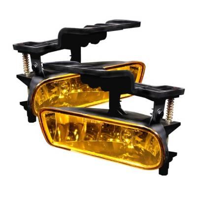 Headlights & Tail Lights - Fog Lights - Spyder - Chevrolet Silverado Spyder Fog Lights - No Switch - Yellow - FL-CL-CS99-Y