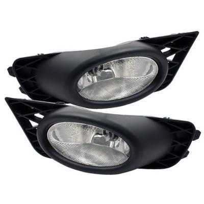 Headlights & Tail Lights - Fog Lights - Spyder - Honda Civic 4DR Spyder OEM Fog Lights - Clear - FL-CL-HC09-4D-C