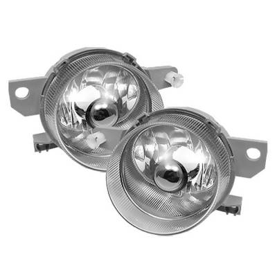 Headlights & Tail Lights - Fog Lights - Spyder - Honda Del Sol Spyder Fog Lights - No Switch - Chrome - FL-CL-HD93-C