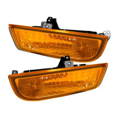 Headlights & Tail Lights - Fog Lights - Spyder - Honda Prelude Spyder OEM Fog Lights - Yellow - FL-CL-HP97-Y