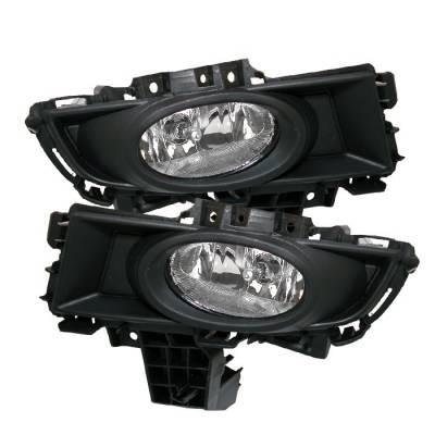 Headlights & Tail Lights - Fog Lights - Spyder - Mazda 3 4DR Spyder OEM Fog Lights - Clear - FL-CL-MAZ307-C