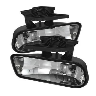 Headlights & Tail Lights - Fog Lights - Spyder - Chevrolet Silverado Spyder Fog Lights - No Switch - Clear - FL-CS99-C