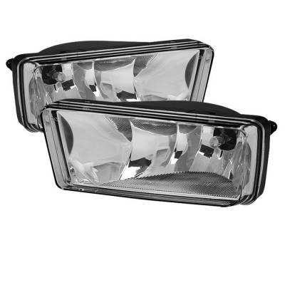 Headlights & Tail Lights - Fog Lights - Spyder - Chevrolet Silverado Spyder OEM Fog Lights - No Switch - Clear - FL-CSIL07-C