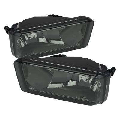 Headlights & Tail Lights - Fog Lights - Spyder - Chevrolet Silverado Spyder OEM Fog Lights - No Switch - Smoke - FL-CSIL07-SM