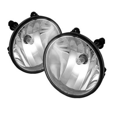 Headlights & Tail Lights - Fog Lights - Spyder - GMC Acadia Spyder Fog Lights - No Switch - Clear - FL-CTAH07-C
