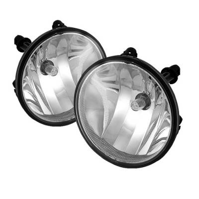Headlights & Tail Lights - Fog Lights - Spyder - GMC Yukon Spyder Fog Lights - No Switch - Clear - FL-CTAH07-C