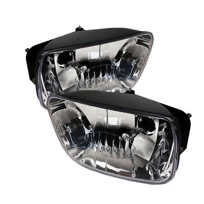 Headlights & Tail Lights - Fog Lights - Spyder - Chevrolet Trail Blazer Spyder OEM Fog Lights - No Switch - Clear - FL-CTB02-C