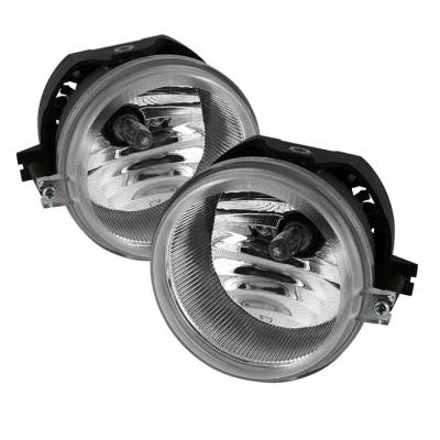 Headlights & Tail Lights - Fog Lights - Spyder - Dodge Caravan Spyder OEM Fog Lights - Clear - FL-DCH05-C