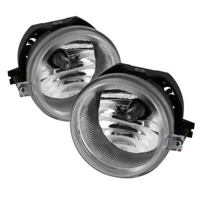 Headlights & Tail Lights - Fog Lights - Spyder - Jeep Patriot Spyder OEM Fog Lights - Clear - FL-DCH05-C