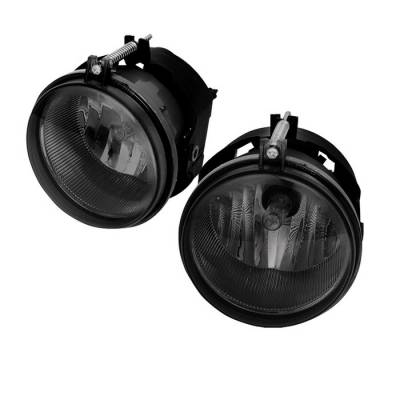 Headlights & Tail Lights - Fog Lights - Spyder - Dodge Nitro Spyder OEM Fog Lights - Smoke - FL-DCH05-SM